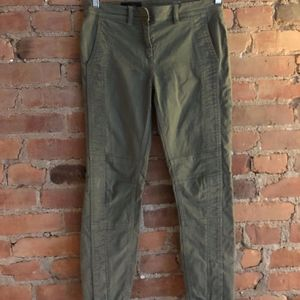 Army Green Skinny J. Crew Pants